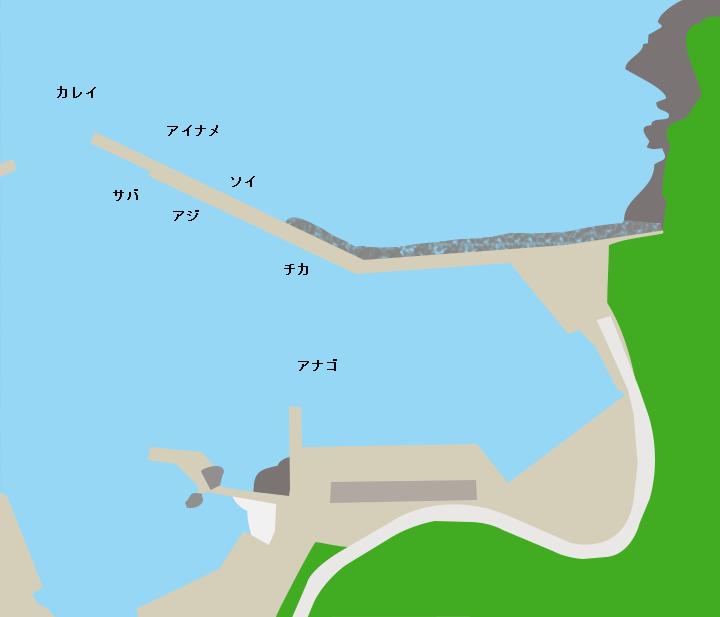大石漁港ポイント図