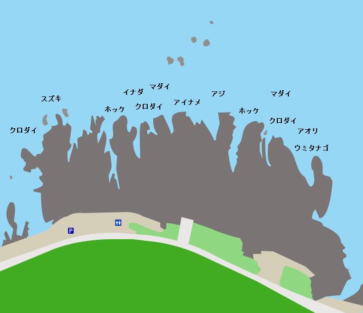 千畳敷海岸ポイント図