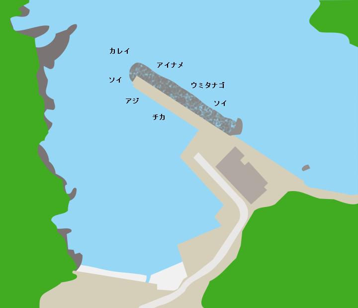 佐須漁港ポイント図