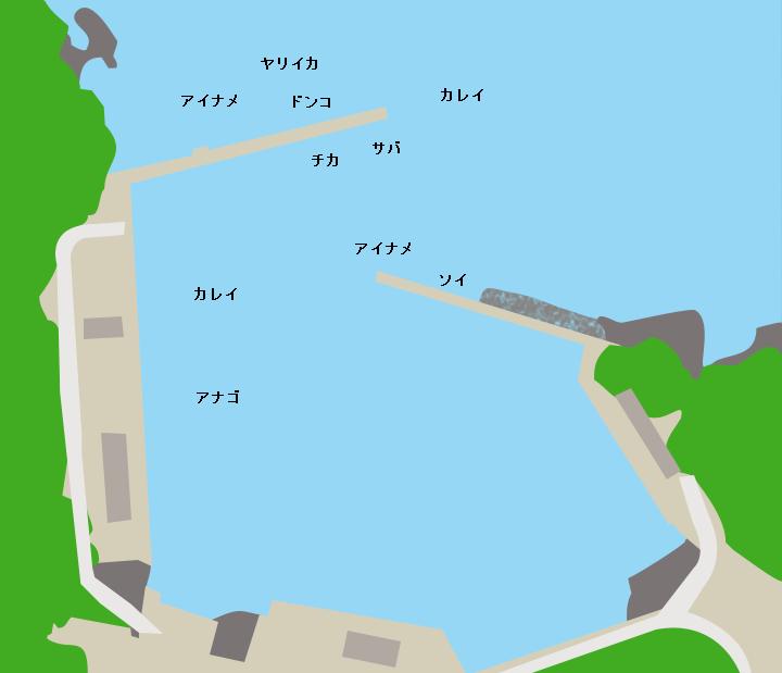 桑ノ浜漁港ポイント図
