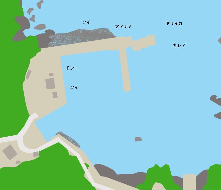 仮宿漁港ポイント図