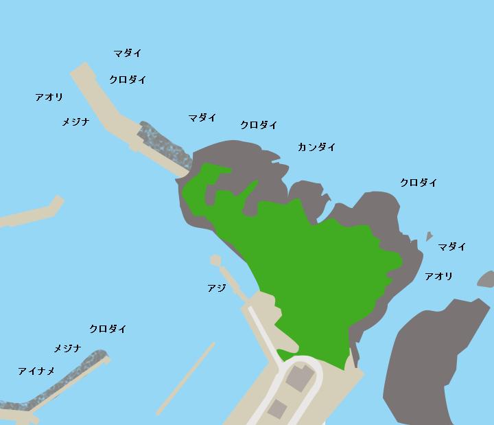 飛島港・蛭子前崎ポイント図