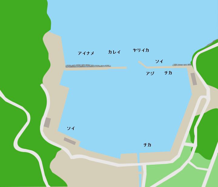箱崎漁港ポイント図