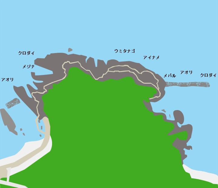 飛島賽ノ河原ポイント図