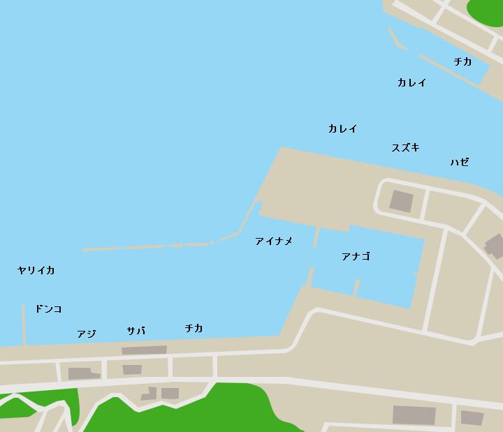 大槌漁港ポイント図