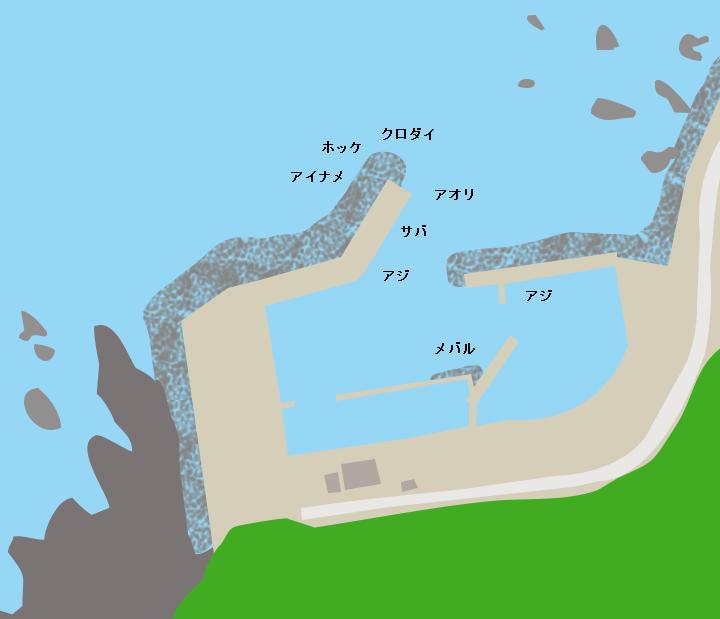 艫作漁港ポイント図