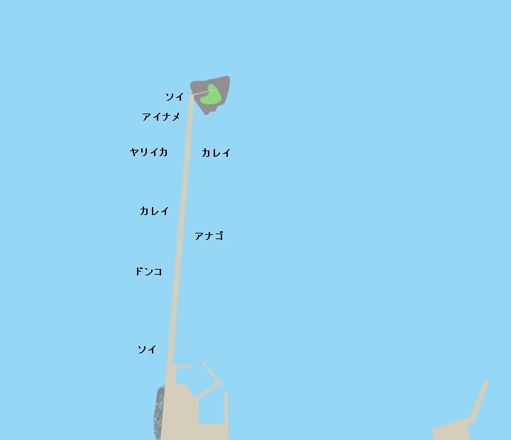 大槌漁港蓬莱島ポイント図