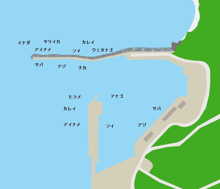 吉里吉里漁港ポイント図