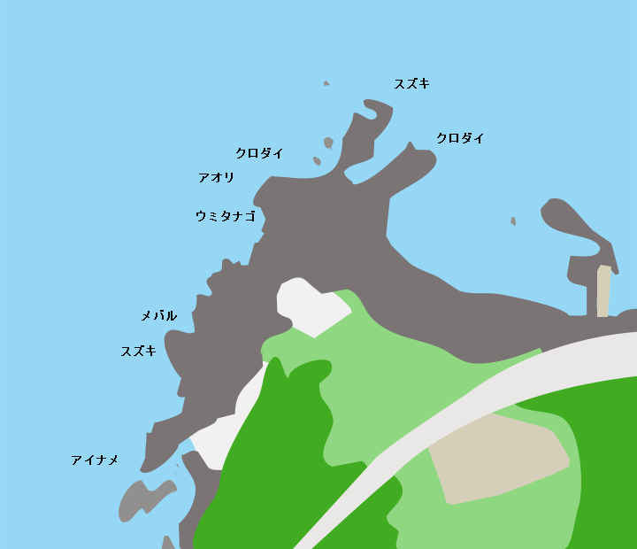 十六羅漢岩ポイント図