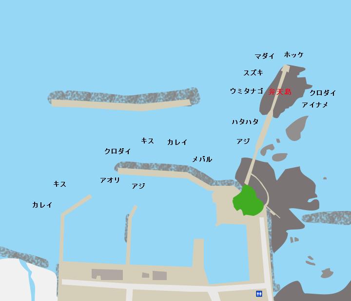 岩崎漁港ポイント図