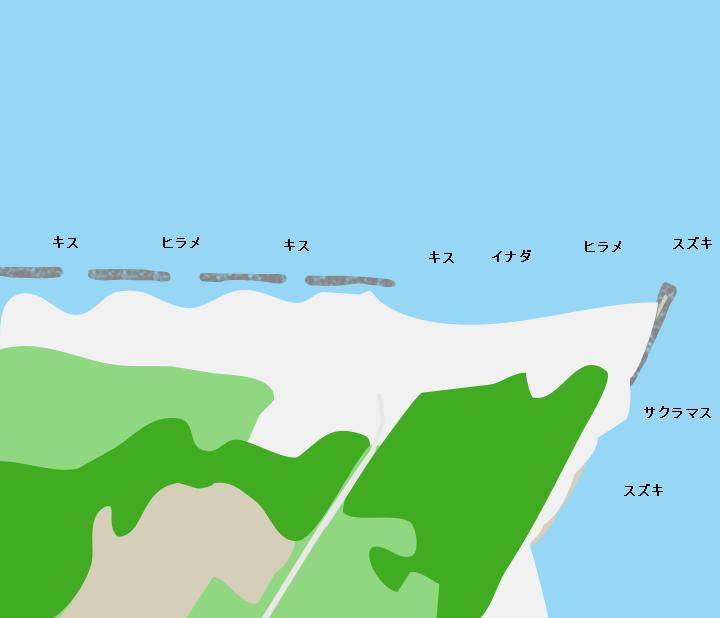 宮野浦海岸ポイント図