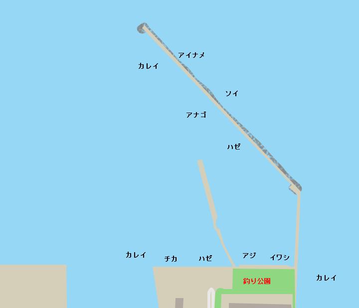 八戸港フェリー埠頭・海釣り公園
