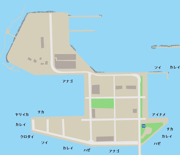 八戸港ポートアイランドポイント図