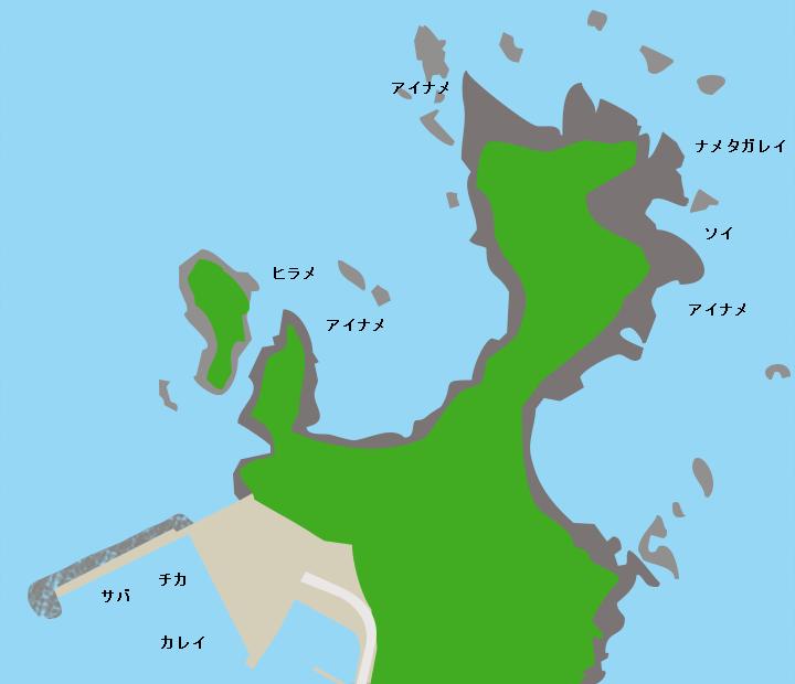 真崎海岸ポイント図