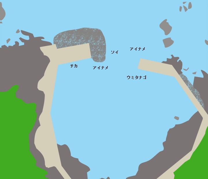 小堀内漁港ポイント図