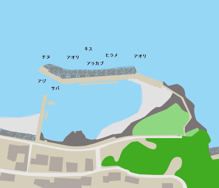 永浜漁港ポイント図