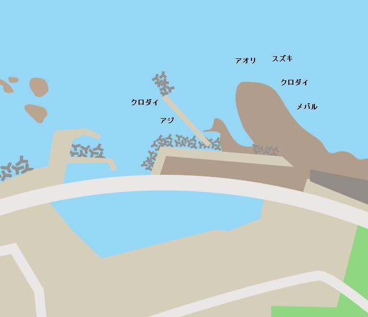 温福漁港ポイント図