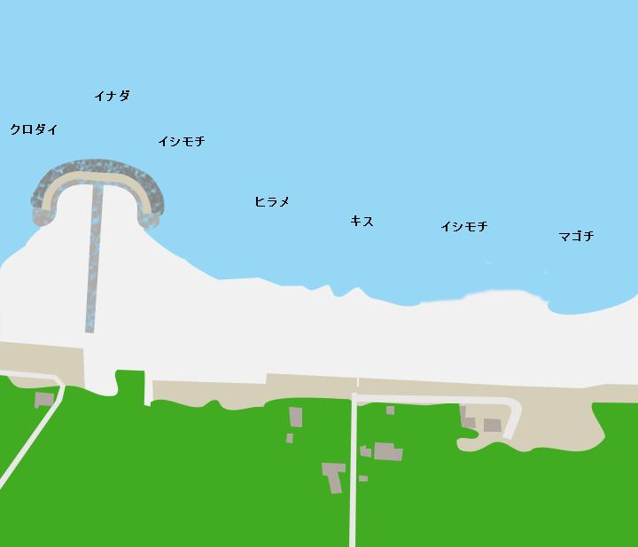 武与釜海岸ポイント図