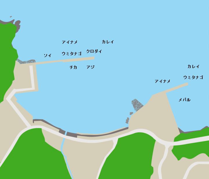指ヶ浜漁港ポイント図