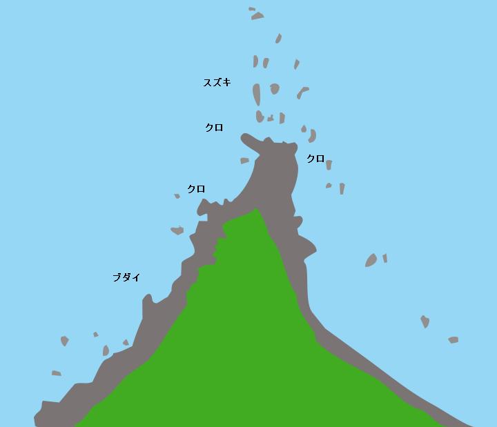 種子島喜志鹿崎ポイント図