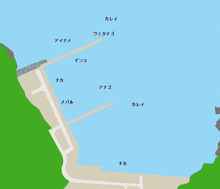 桐ヶ崎漁港ポイント図