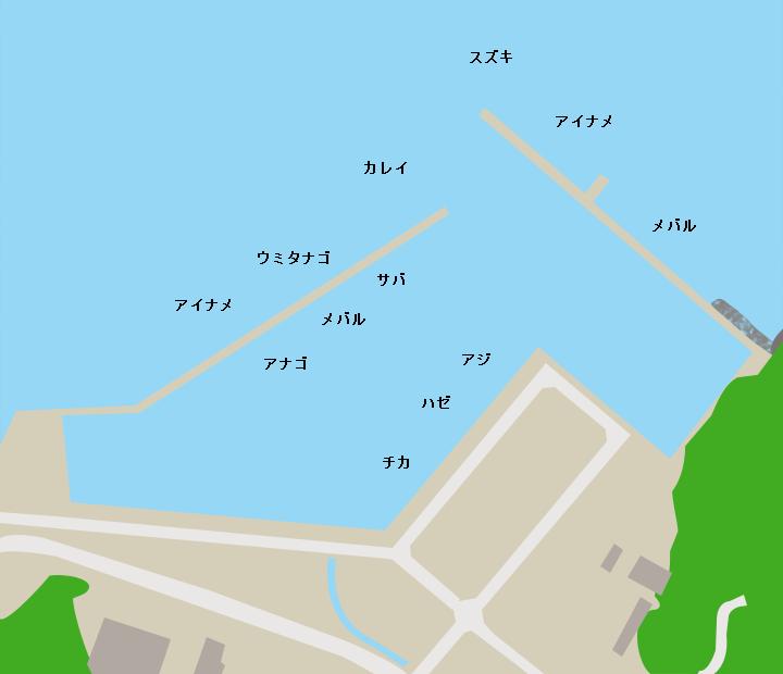 小乗浜漁港ポイント図