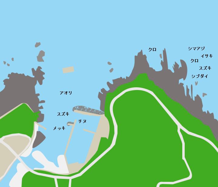 種子島湊漁港ポイント図