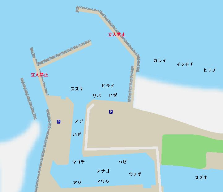 閖上漁港ポイント図
