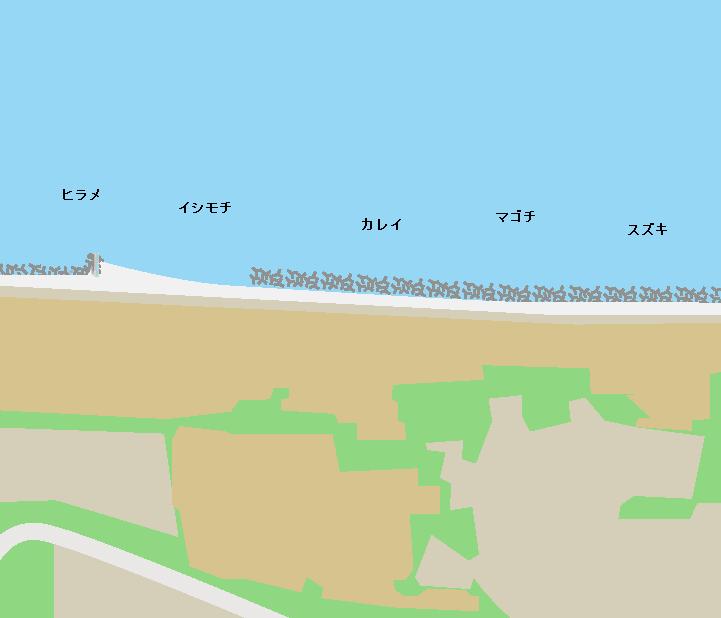 二の倉海岸ポイント図