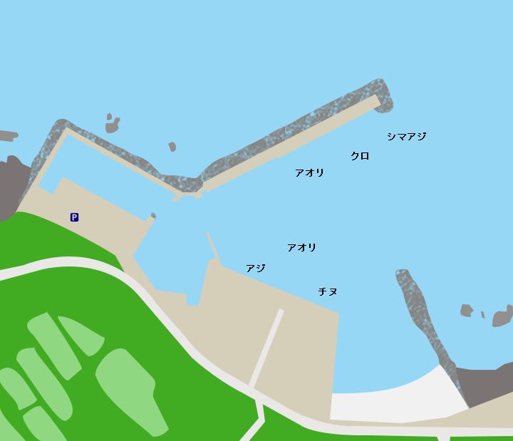 種子島田之脇港ポイント図
