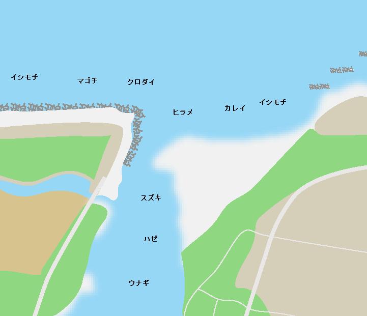 阿武隈川河口ポイント図