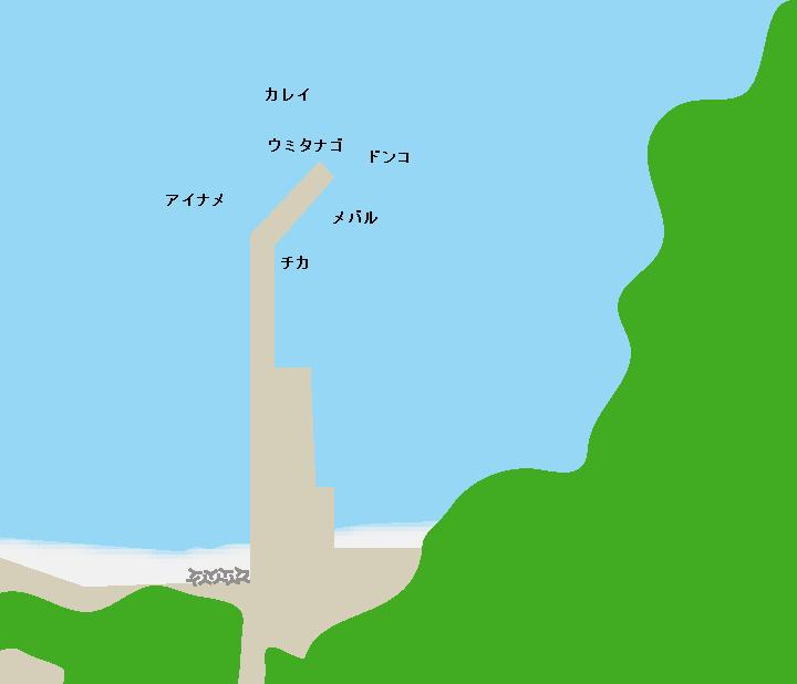 小田浜漁港ポイント図
