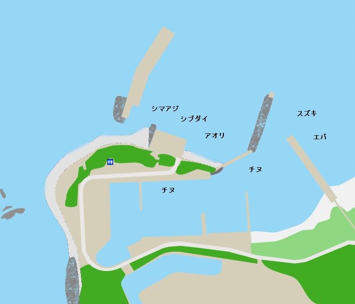 熊野漁港ポイント図
