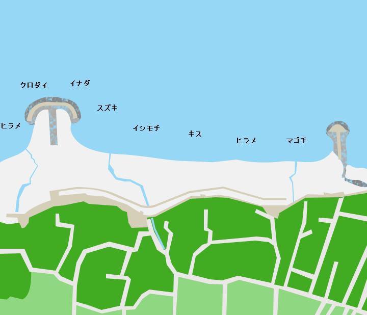 角折海岸ポイント図