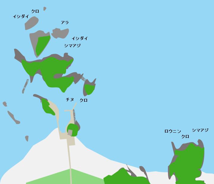 種子島竹崎漁港周辺ポイント図