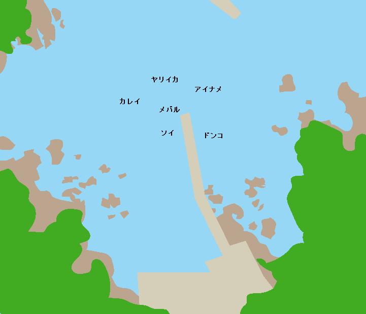 金取漁港ポイント図