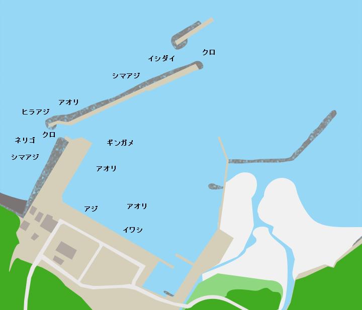 種子島島間港ポイント図