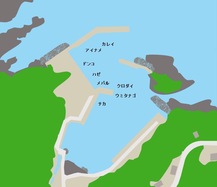 大指漁港ポイント図