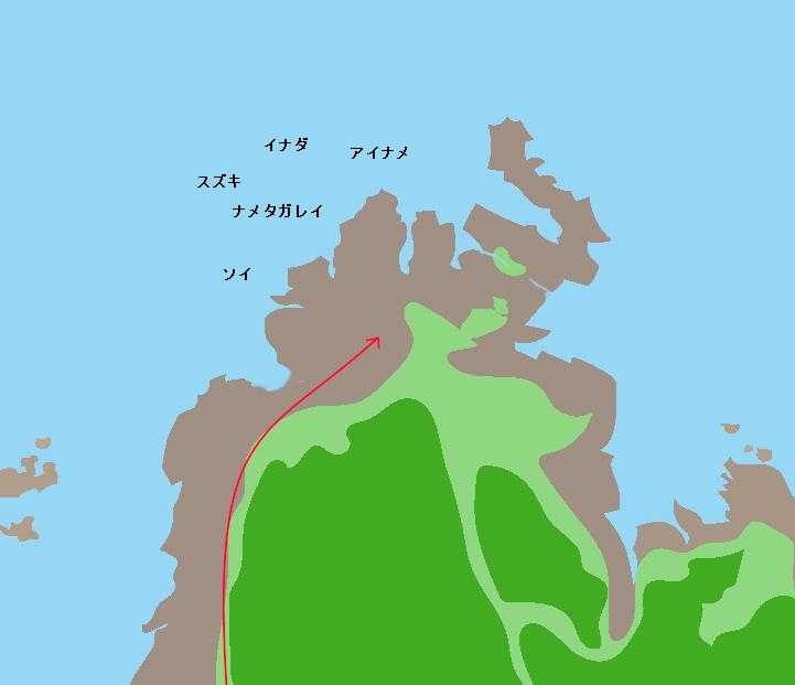 御崎岬ポイント図