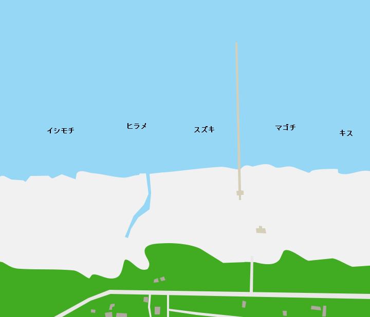 須田浜海岸ポイント図