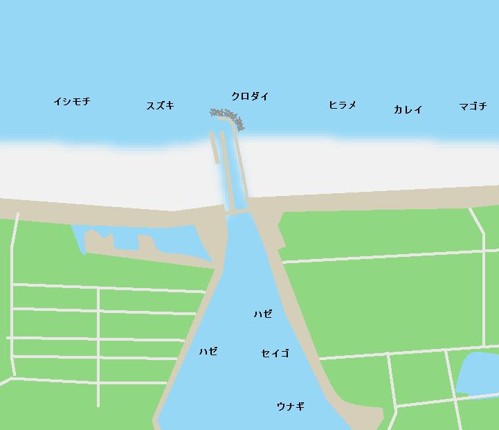 牛橋河口ポイント図