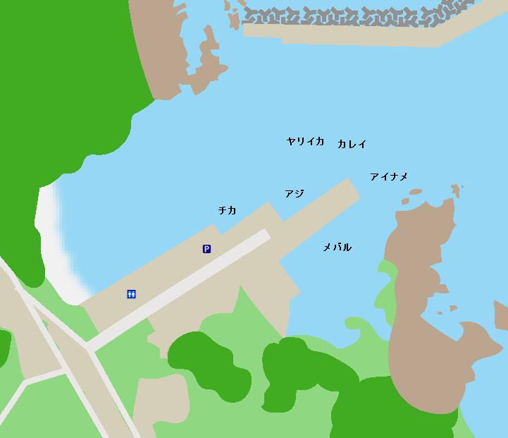 御崎漁港ポイント図