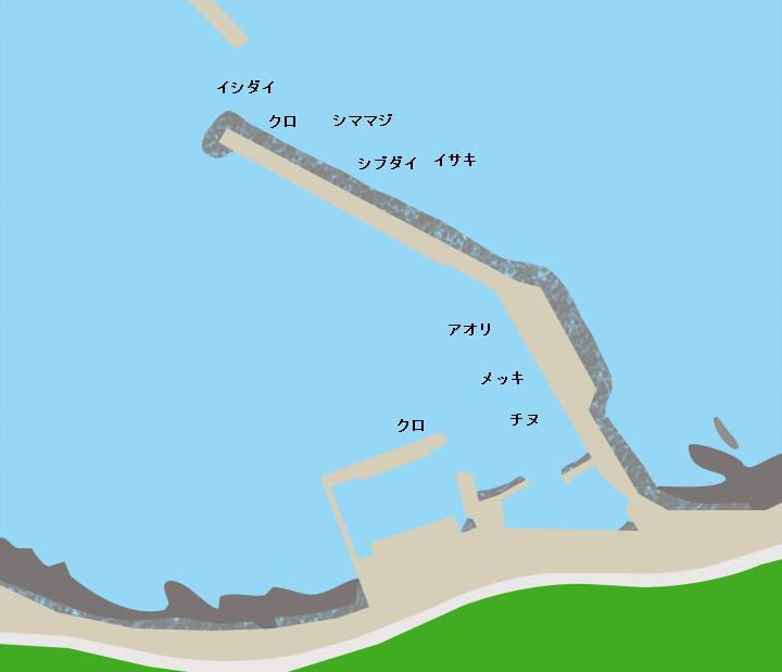 種子島浜津脇港ポイント図