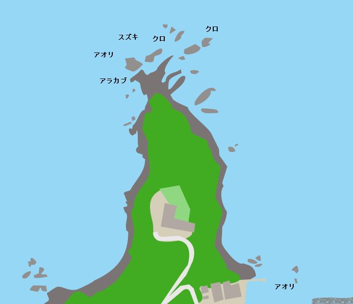 ダグリ岬ポイント図