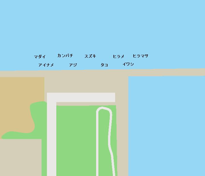 新地海釣り公園ポイント図