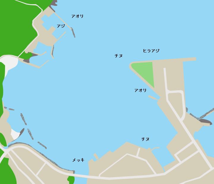 種子島西之表港ポイント図