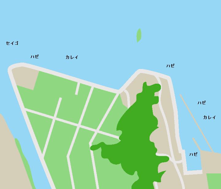 松川浦岩子漁港ポイント図