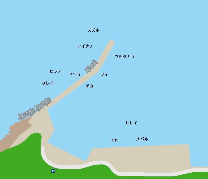 気仙沼大島長崎漁港ポイント図