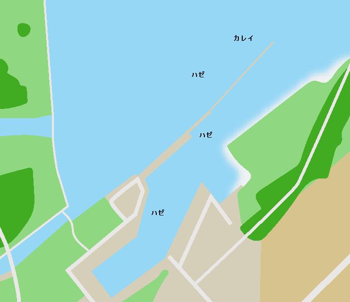 松川浦磯部漁港ポイント図