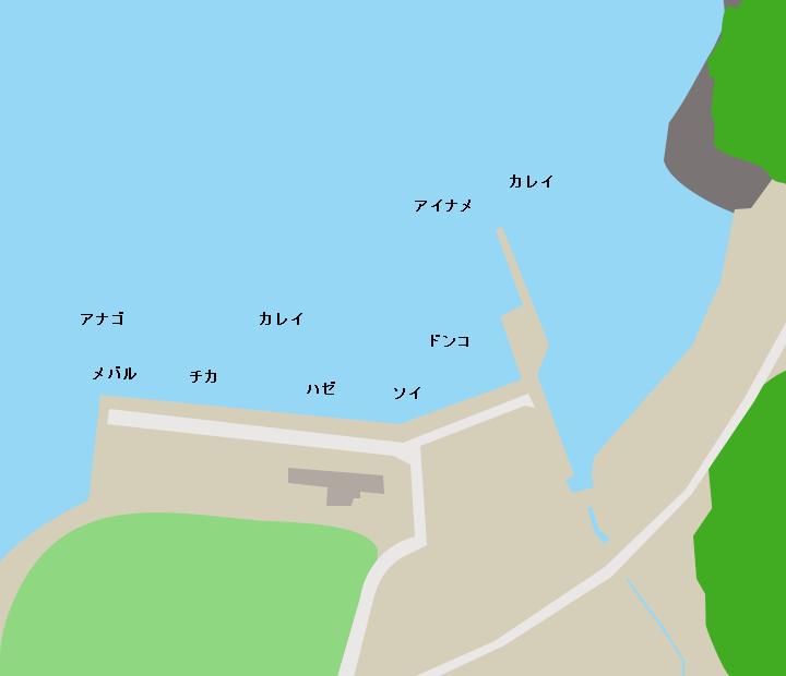 小網倉漁港ポイント図